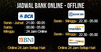 Jadwal Bank On/Off